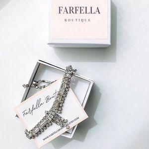 Bridal Art Deco Crystal Rhinestone Necklace